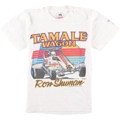 80年代 FRUIT OF THE LOOM Ron Shuman ロンシューマン プリントTシャツ USA製 メンズXS ヴィンテージ /eaa079391