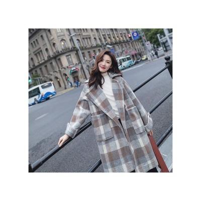 チェスターコート レディース アウター ロングコート  チェック人気 チェック柄 韓国ファッション 20代 30代 40代 50代 おすすめ 大きいサイズ 988
