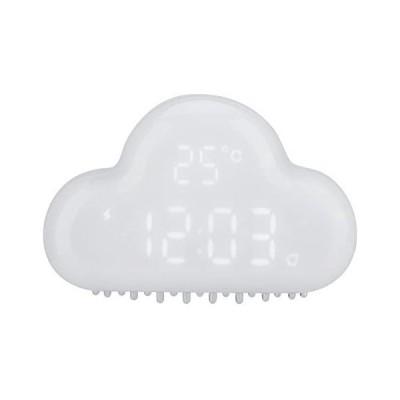 Acouto [デジタル時計] 雲の形目覚まし時計 アラームデジタル温度時計 スヌーズカレンダー 音声アクティベーション