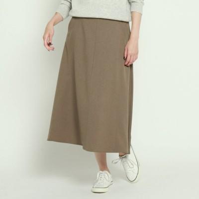 デッサン Dessin 【洗える・XS~Lサイズ展開あり】ウール調合繊フレアースカート (タバコブラウン)