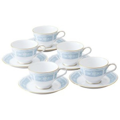 【Noritake(ノリタケ)】 LECEWOOD GOLD (レースウッドゴールド) コーヒー・紅茶碗皿5客セット   H9587A-1507