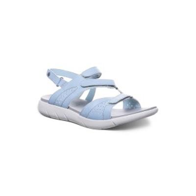 ベアパウ レディース サンダル シューズ Women's Reed Flat Sandals Blue Fog