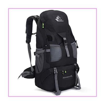 【送料無料】RuRu Monkey 50 Liter Hiking Backpack Daypack for Outdoor Camping Traveling,Black【並行輸入品】