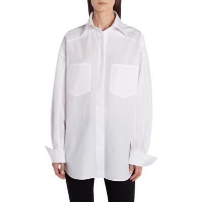 フェンディ FENDI レディース ブラウス・シャツ トップス Cotton Poplin Shirt Fznm White