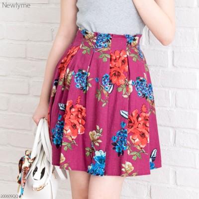 【メール便対応】ウエストタックデザイン♪選べる花柄2タイプスカート