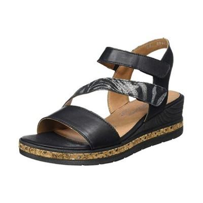 Remonte Women's Ankle Strap Sandals, Black Schwarz Schwarz 01, 7.5 UK【並行輸入品】