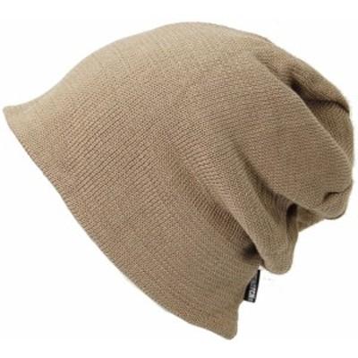 BIGWATCH正規品 大きいサイズ 帽子 メンズ リバーシブル(ビッグワッチ)/ ベージュ/ブラウン/ニットキャップ/ルーズ/ワッチキャップ/ニッ