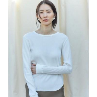 tシャツ Tシャツ Organic cotton バックホックトップス