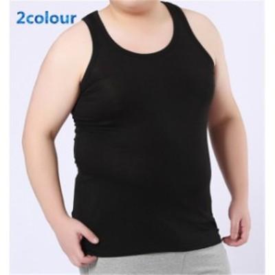 メンズシャツ ノースリープ 超大きいサイズ 無地 ファッション インナーシャツ シンプル スポーツ ハイセンス 着心地よい メンズシャツ
