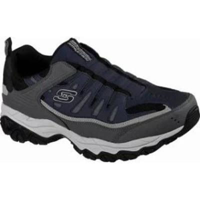 Skechers メンズスニーカー Skechers After Burn M Fit Slip-On Walking Shoe Navy