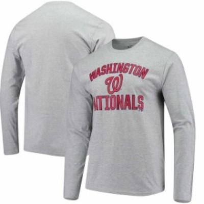 Fanatics Branded ファナティクス ブランド スポーツ用品  Fanatics Branded Washington Nationals Heathered Gray Victory Arch Long Sl