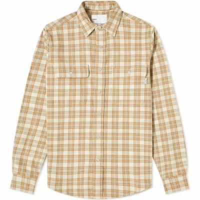 アドサム Adsum メンズ シャツ ワークシャツ トップス Oatmeal Plaid Workshirt Stone/Brown