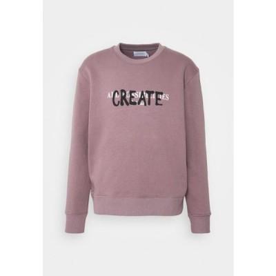 トップマン メンズ ファッション DUSTY SPRAY CREATE BACK PRINT - Sweatshirt - lilac