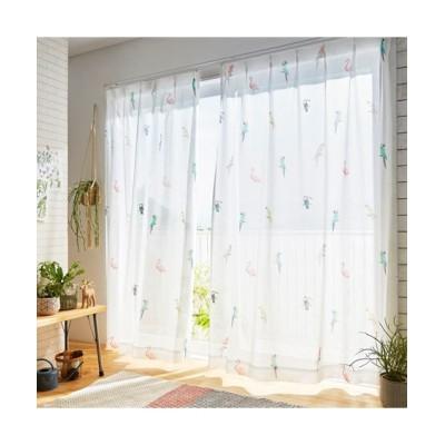 ボタニカルな雰囲気のバード柄レースカーテン レースカーテン・ボイルカーテン, Curtains, sheer curtains, net curtains(ニッセン、nissen)