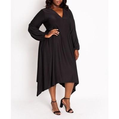 コルデシナ ワンピース トップス レディース Women's Plus Izzy Empire Dress Black