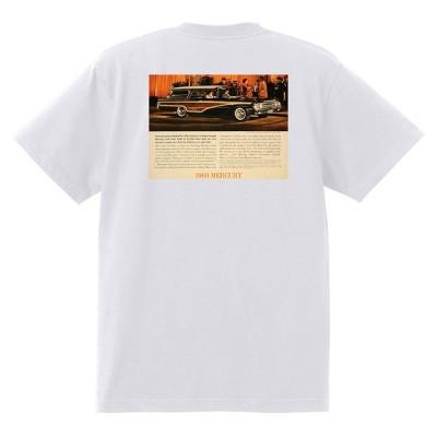 アドバタイジング マーキュリーTシャツ 白 1204 黒地へ変更可 1960 モントクレア モントレー パークレーン コメット ホットロッド