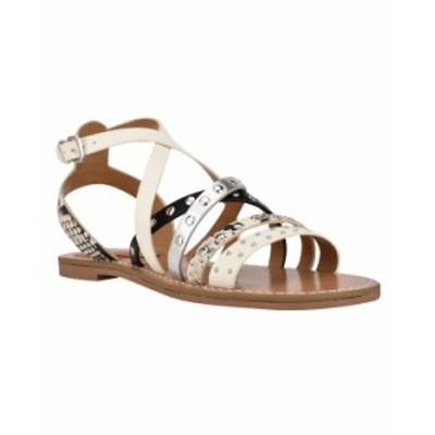 ナインウェスト レディース サンダル シューズ Women's Cane Strappy Flat Sandals Ivory Multi