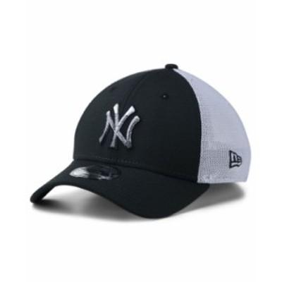 ニューエラ メンズ 帽子 アクセサリー Men's New York Yankees Trucker 39THIRTY Cap Black/White