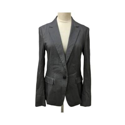 【中古】アイシービー iCB ジャケット テーラード シングル 無地 長袖 11 グレー レディース 【ベクトル 古着】
