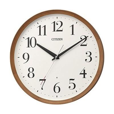 リズム(RHYTHM) 置き時計・掛け時計 茶色 Φ32x5.4cm 電波 アナログ M535 連続秒針 丸型 木 シチズン 8MY535-006