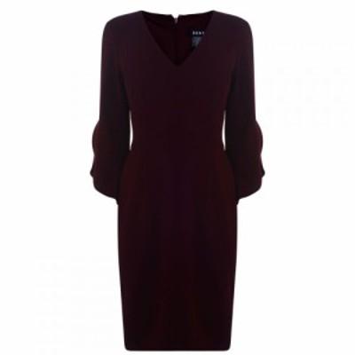 ディーケーエヌワイ DKNY Occasion レディース ワンピース ワンピース・ドレス Tulip Sleeve Dress CABERNET