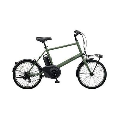 PANASONIC ベロスター・ミニ 電動アシスト自転車 (20インチ・外装7段変速) BE-ELVS072-G マットオリーブ