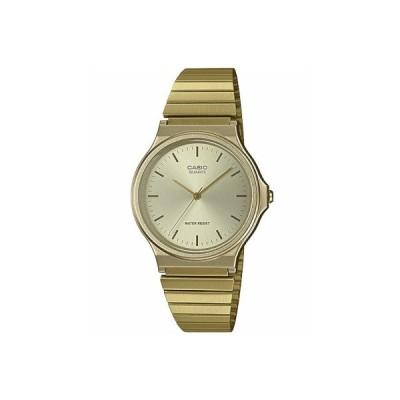 カシオ メンズ アナログ 腕時計 日常生活防水 おしゃれな ゴールド 金色 見やすい 3針 クォーツ 文字盤 メタル ステンレスバンド ドレスウォッチ (SD19FB02GLD)