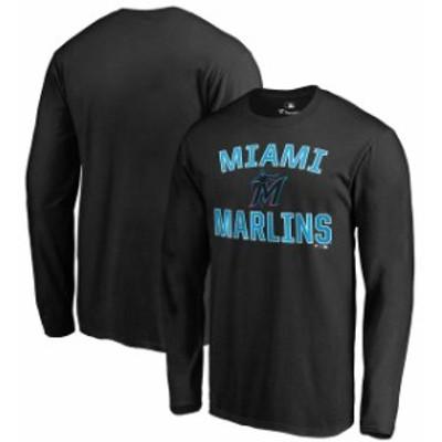 Fanatics Branded ファナティクス ブランド スポーツ用品  Miami Marlins Black Victory Arch Long Sleeve T-Shirt