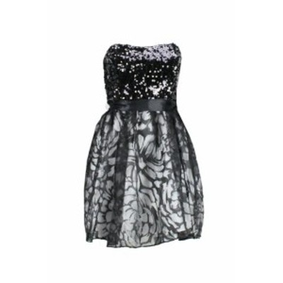 Sequin  ファッション ドレス Hailey logan black juniors sequin strapless dress