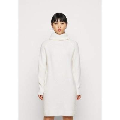 ヴィラ プティ ワンピース レディース トップス VIFLINKA COWLNECK DRESS - Jumper dress - whisper white