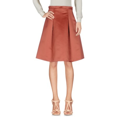 ピンコ PINKO ひざ丈スカート 赤茶色 38 100% ポリエステル ひざ丈スカート