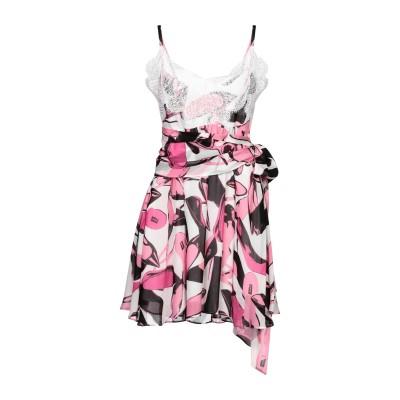 PINKO UNIQUENESS ミニワンピース&ドレス フューシャ 38 レーヨン 100% / ナイロン ミニワンピース&ドレス
