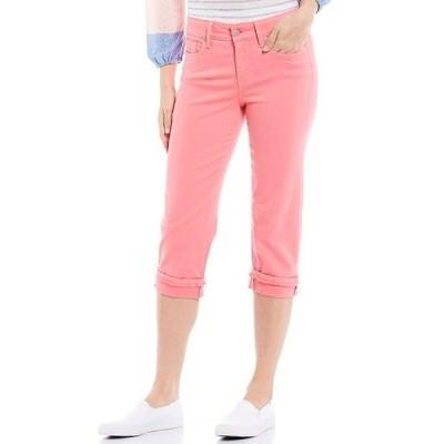 エヌワイディージェイ レディース デニムパンツ ボトムス Marilyn Straight Leg Frayed Cuffs Crop Jeans