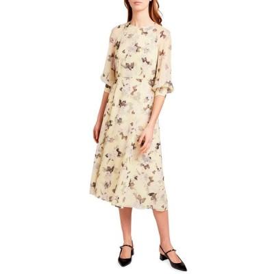 アーデム レディース ワンピース トップス Yusra 3/4-Sleeve Dress