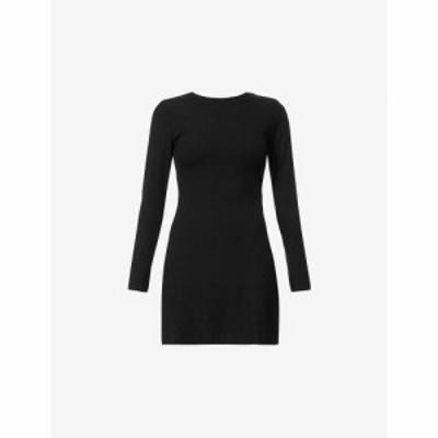 リフォーメーション REFORMATION レディース ワンピース ミニ丈 ワンピース・ドレス Kensy cut-out stretch-jersey mini dress BLACK