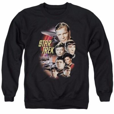 スター トレック メンズ スゥエット パーカー Star Trek Classic Crew Officially Licensed Adult Crewneck Sweatshirt