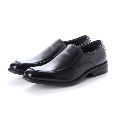 ジョーマリノ JO MARINO 日本製 本革 メンズ ビジネスシューズ スリッポン 通気性 消臭 衝撃吸収 幅広 軽量 (ブラック)