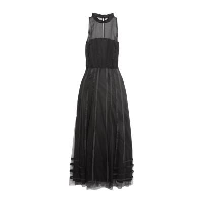 NINA RICCI ロングワンピース&ドレス ブラック 38 シルク 100% ロングワンピース&ドレス