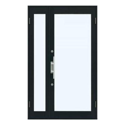 YKKap 店舗ドア7TD 親子 単板ガラス 2ロック仕様 中桟無し W1235xH2018mm アルミサッシ 事務所ドア 汎用ドア