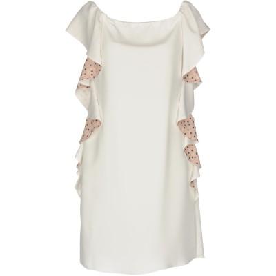 TENAX ミニワンピース&ドレス ホワイト 46 ポリエステル 100% ミニワンピース&ドレス