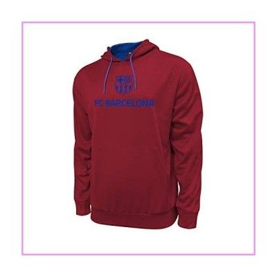 Icon Sports FC Barcelona Lionel Messi 10 Officially Licensed Bar〓a Adult Men's Pullover Hooded Sweatshirt (Large)【並行輸入品】