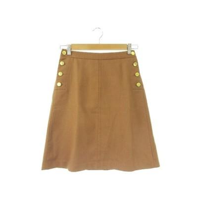 【中古】ロペピクニック ROPE Picnic スカート 台形 ひざ丈 36 茶 ブラウン /AH2 ☆ レディース 【ベクトル 古着】