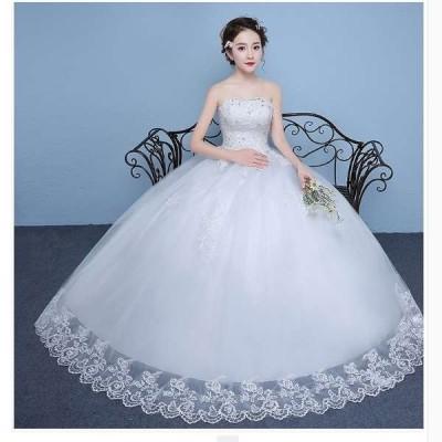 ウェディングドレス花嫁二次会演奏会パーティードレスホワイト結婚式おしゃれ