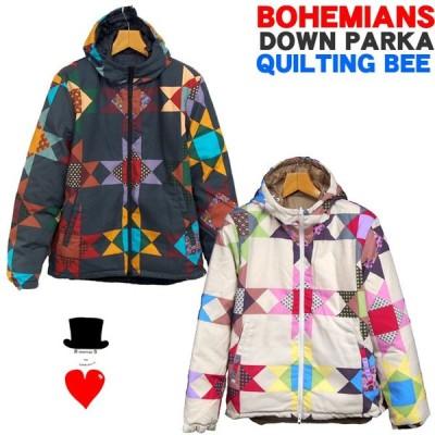 Bohemians (ボヘミアンズ)ダウンパーカー リバーシブル 「QUILTING BEE 」キルティングビー ポリエステルキャンバス素材 送料無料