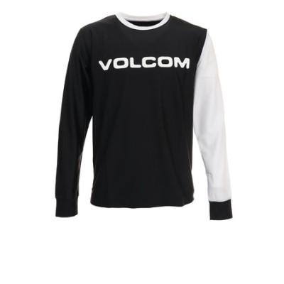 ボルコム(Volcom)ブランド ロゴ サーフ長袖Tシャツ SN03117JA BLK