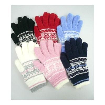 マシュマロタッチ 暖かく柔らかい 雪柄*手袋 プレゼントにも。