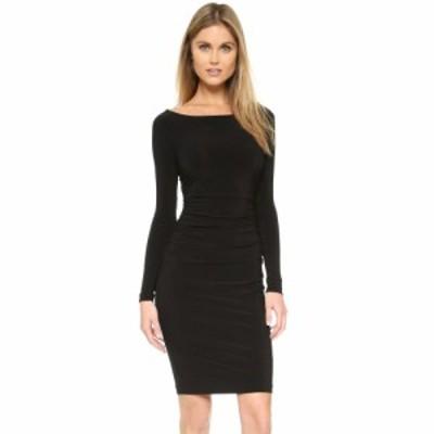 ノーマ カマリ Norma Kamali レディース ワンピース ワンピース・ドレス Kamali Kulture Long Sleeve Dress with Shirred Waist Black