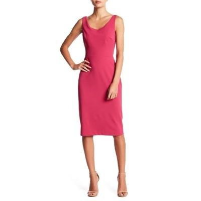 ベッツィジョンソン レディース ワンピース トップス Scoop Neck Sleeveless Crepe Midi Dress PINK