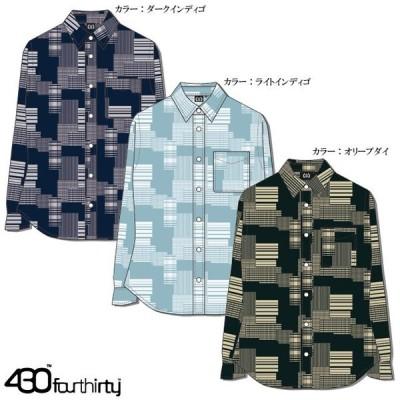 430 FOURTHIRTY フォーサーティー Long Sleeve Shirt ロングスリーブ L/S PW SHIRTS 20-058 bmx カジュアル ストリート系 おしゃれ かっこいい モテる