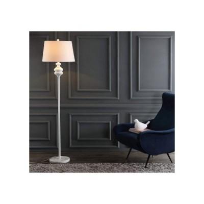 【Safavieh】フロアランプ 照明 Torc メタル WHITE フロアライト スタンドライト 寝室 スタンド照明 アメリカ家具 海外家具